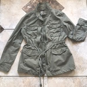 ARMY GREEN MILITARY JACKET COAT XS